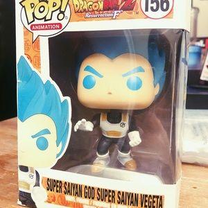 Cute Dragon Ball Z Super Saiyan God Vegeta Funko